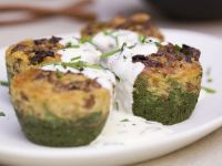 Spinach and Mushroom Cakes recipe