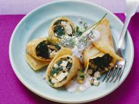 Spinach and Pine Nut Crêpes recipe