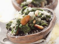 Spinach and Pine Nut Mushrooms recipe