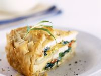 Spinach and Potato Filo Pastry Pie recipe