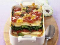Spinach and Tomato Lasagna recipe