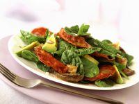 Spinach Avocado Salad with Salami recipe