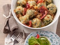 Spinach Dumplings with Ham recipe