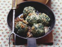 Spinach Dumplings with Walnuts recipe