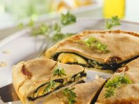Spinach, Egg and Cheese Pie recipe