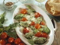 Spinach Gnocchi with Cherry Tomatoes recipe