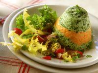 Spinach-Pumpkin Flans recipe
