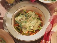 Spinach Ravioli with Carrots recipe
