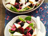 Spinach Salad with Berries and Cheese recipe
