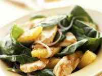 Spinach Salad with Chicken and Orange Dressing recipe