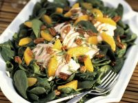 Spinach Salad with Chicken, Mandarin Oranges and Pecans recipe