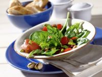 Spinach Salad with Pistachios and Shallot Vinaigrette recipe