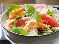 Green Leaves with Grains and Shrimp recipe