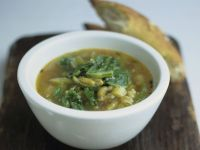 Spinach Soup with Beans recipe