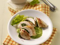 Spinach-Stuffed Chicken Breast with Creamy Green Sauce recipe