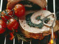 Spinach-stuffed Grilled Pork Loin recipe