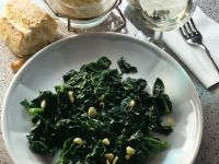 Spinach with Garlic and Lemon Juice recipe