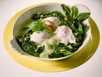 Spinach with Poached Egg