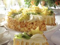 Spiral Fruit and Cream Torte