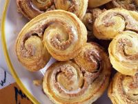 Spiral Glazed Pastry with Marzipan and Almonds recipe