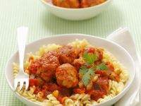 Spiral Pasta with Meatballs recipe