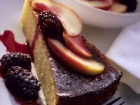 Sponge Cake with Apple-berry Compote recipe