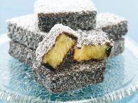 Sponge Cake with Coconut-Chocolate Shell recipe
