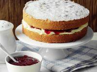 Sponge Cake with Raspberry Jam recipe