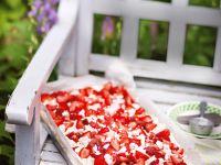 Sponge Cake with Strawberries, Cream and Meringue recipe