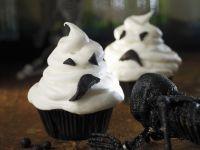 Spooky Ghost Face Cakes recipe