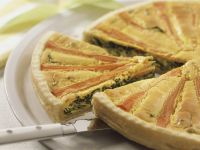 Spring Quiche with Carrots and Spinach recipe