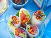 Spring Rolls with Duck, Radish and Grapefruit recipe