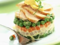 Spring Veg Stack with Chicken recipe