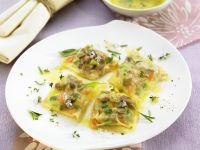 Spring Vegetable Ravioli with Lemon Cream Sauce recipe