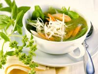 Spring Vegetable Soup with White Asparagus recipe