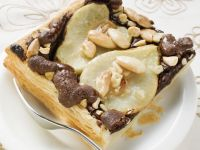 Square Pear and Nut Chocolate Tarts recipe