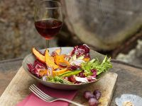 Squash and Radicchio Salad with Grapes recipe
