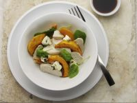 Squash Salad with Spinach and Feta Cheese recipe