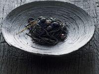 Squid Ink Pasta with Caviar recipe
