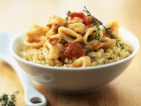 Squid with Wheat Berries recipe
