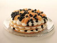Stacked Blueberry Cream Pie