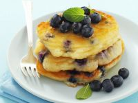 Stacked Blueberry Pancakes recipe