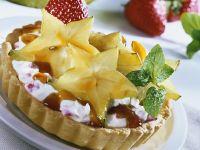 Star Fruit and Cream Tart