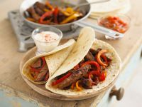 Steak and Pepper Tortillas recipe