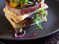 Steak and Sweet Potato on White Bread recipe