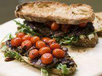 Steak and Tomato Gourmet Sandwiches recipe