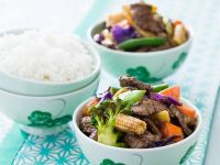 Steak and Veggie Wok-fry recipe