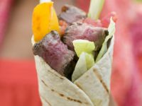 Steak and Veggie Wrap recipe