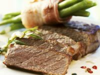 Steak Fillet with Green Beans recipe
