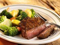 Steak Fillet with Vegetables recipe